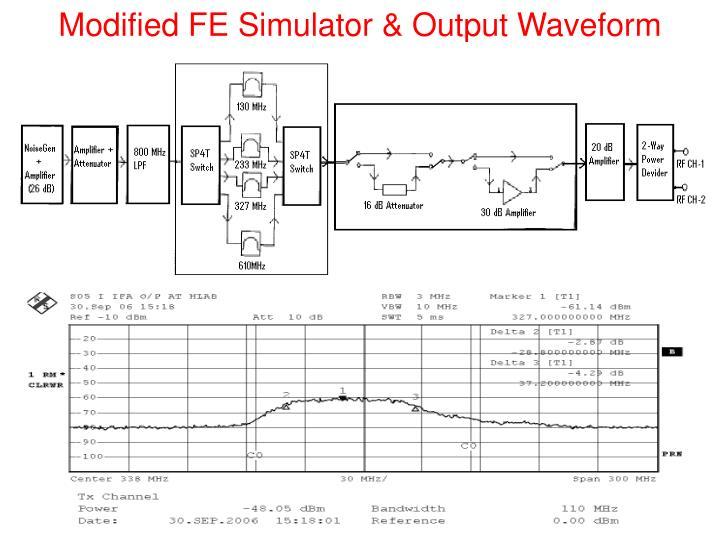 Modified FE Simulator & Output Waveform