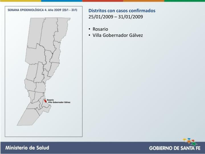 Distritos con casos confirmados