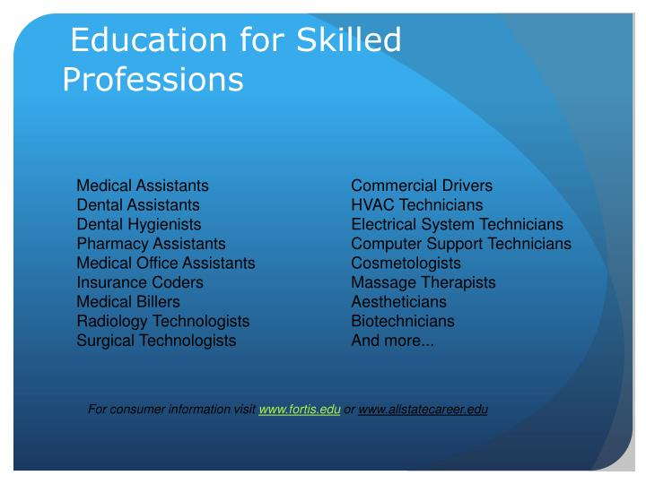 Education for Skilled Professions