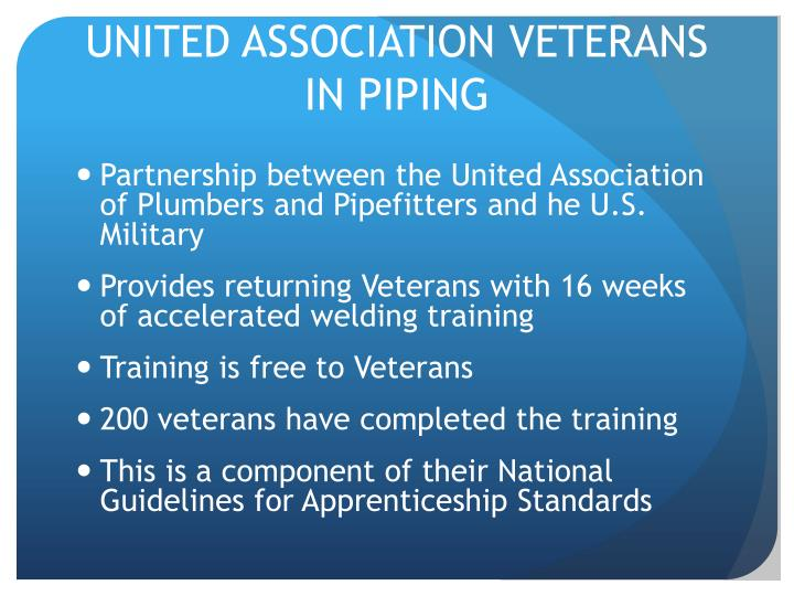 UNITED ASSOCIATION VETERANS IN PIPING