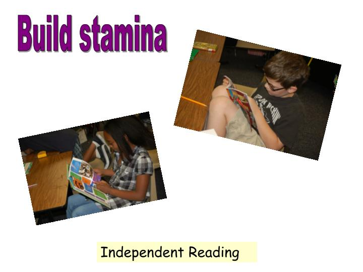Build stamina