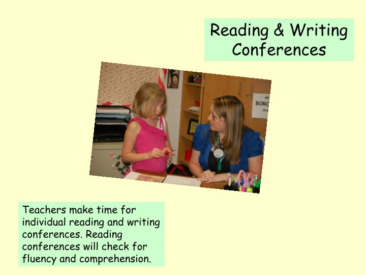 Reading & Writing    Conferences