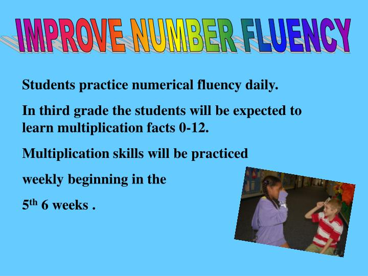 IMPROVE NUMBER FLUENCY