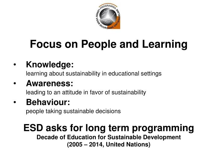 Focus on People and Learning