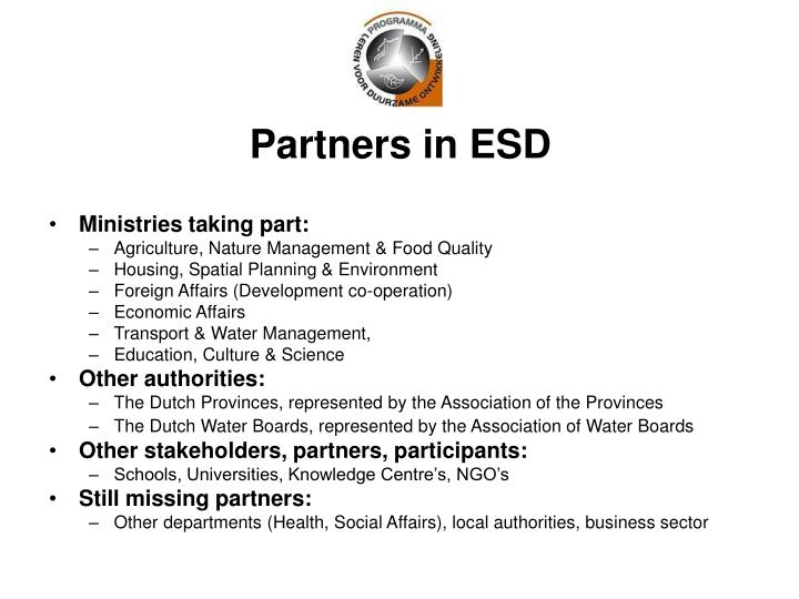 Partners in ESD