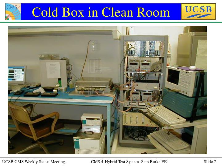 Cold Box in Clean Room