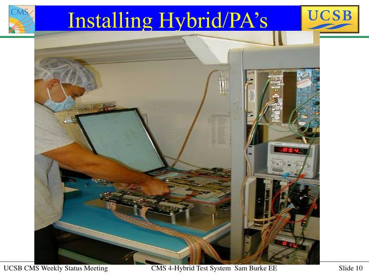 Installing Hybrid/PA's