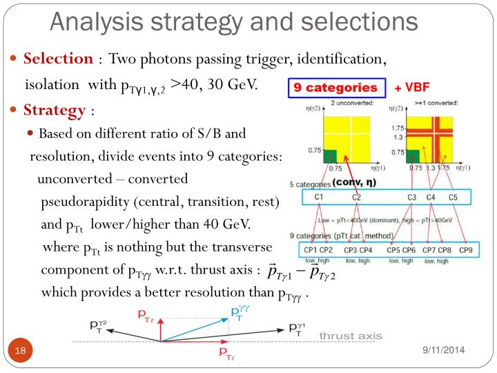 Analysis strategy and selections