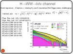 h ww lvlv channel