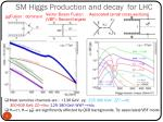 sm higgs production and decay for lhc