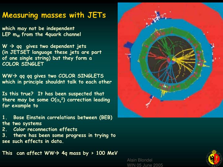 Measuring masses with JETs