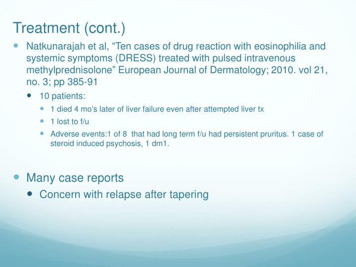 Treatment (cont.)