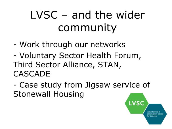 LVSC – and the wider community