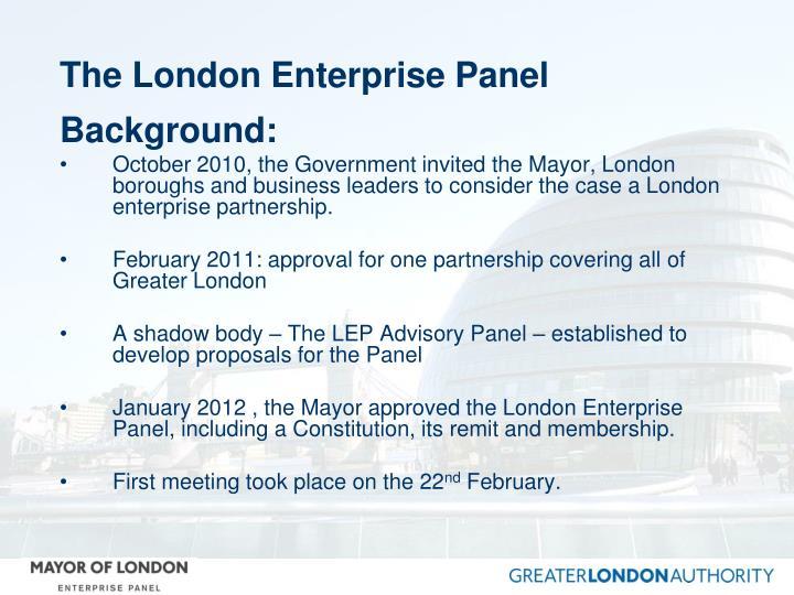 The London Enterprise Panel