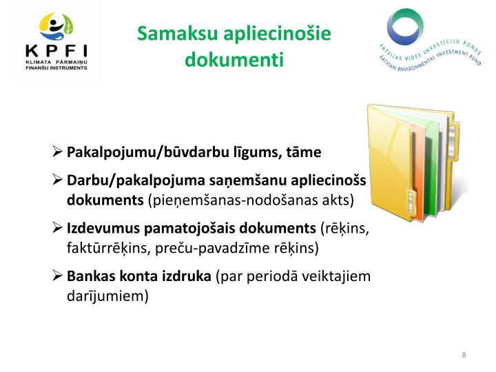 Samaksu apliecinošie dokumenti