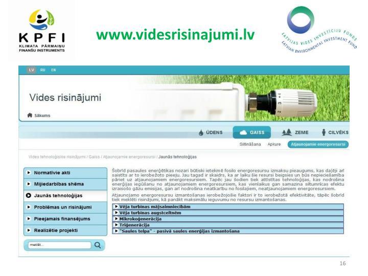 www.videsrisinajumi.lv