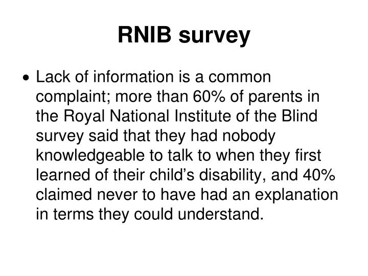 RNIB survey