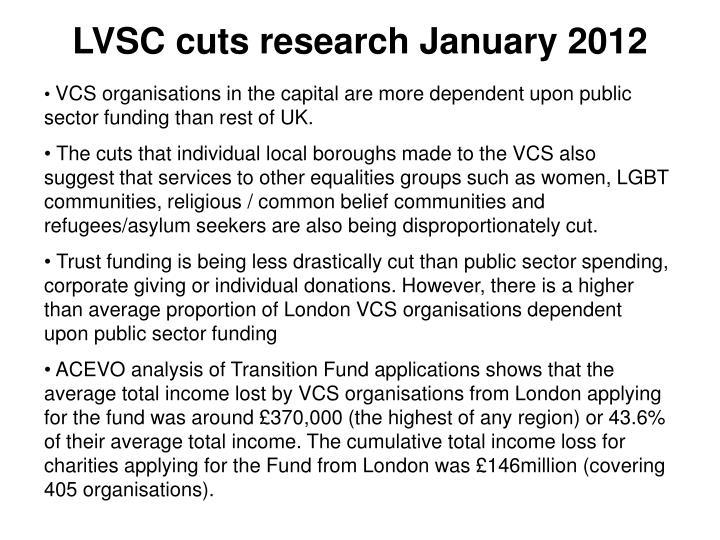 LVSC cuts research January 2012