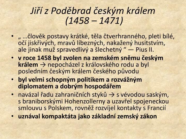Jiří zPoděbrad českým králem
