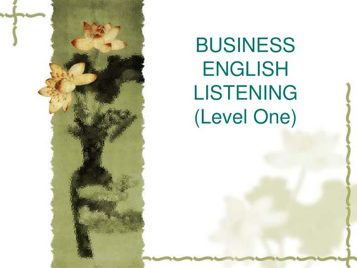 Business english listening level one