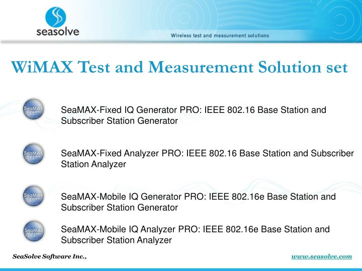 WiMAX Test and Measurement Solution set