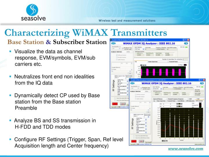 Characterizing WiMAX Transmitters