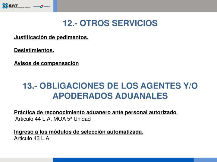 12.- OTROS SERVICIOS