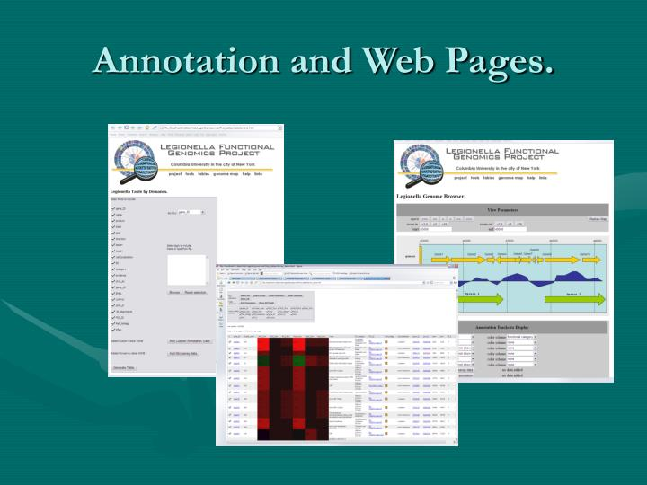 Annotation and Web Pages.
