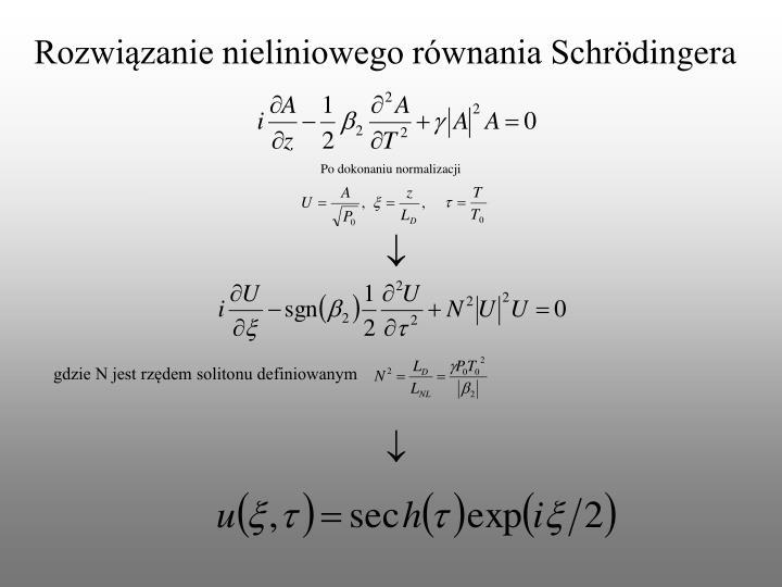 Rozwiązanie nieliniowego równania Schr