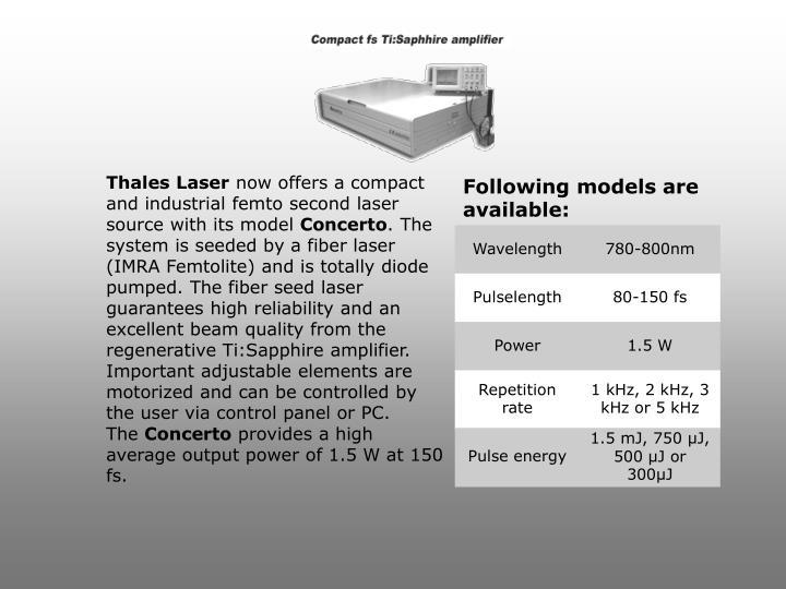 Thales Laser