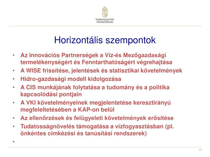 Horizontális szempontok