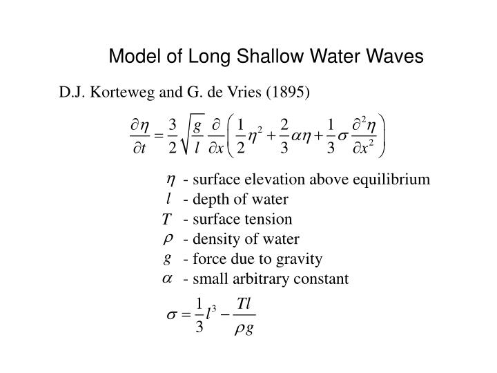Model of Long Shallow Water Waves