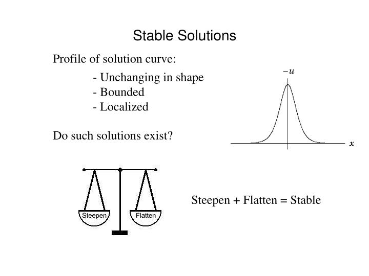 Stable Solutions