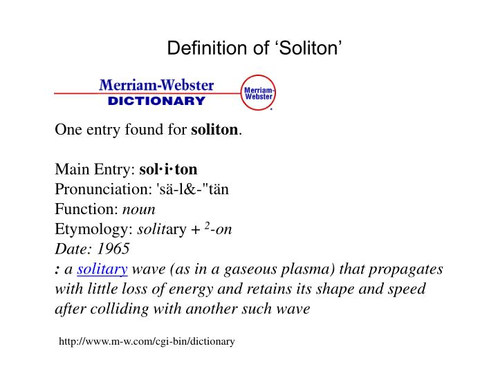 Definition of 'Soliton'