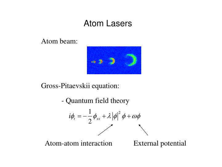 Atom Lasers