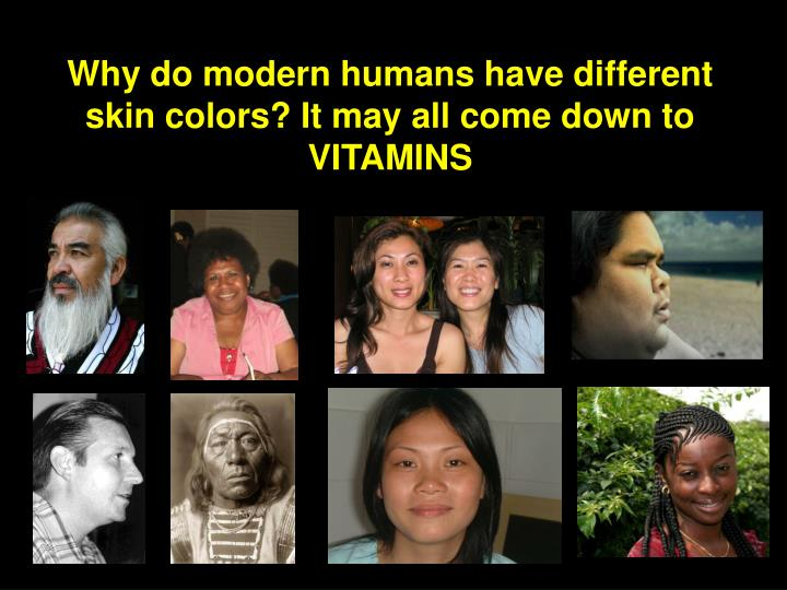 Why do modern humans have different skin colors? It may all come down to VITAMINS