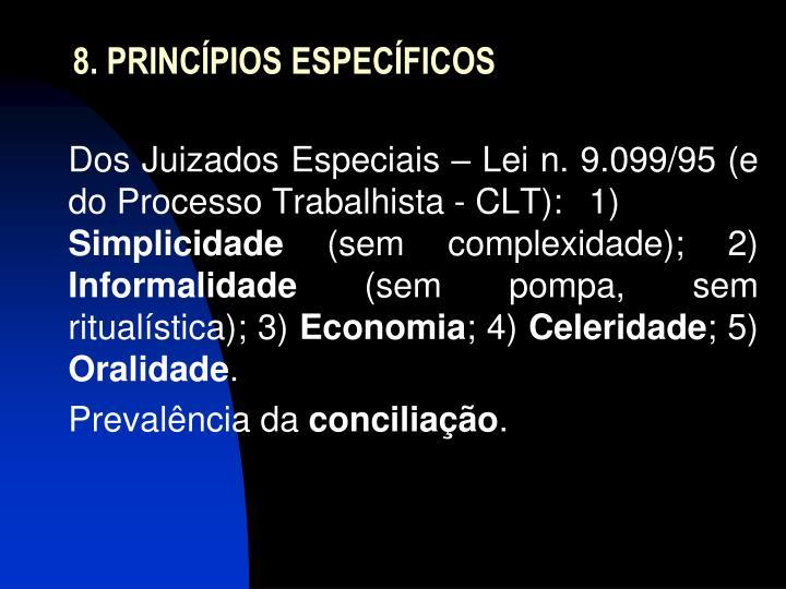 8. PRINCÍPIOS ESPECÍFICOS