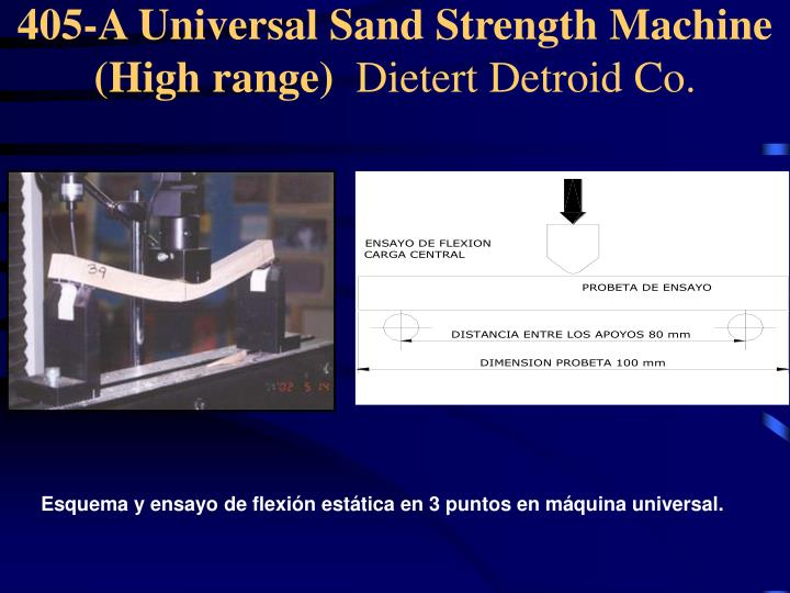 405-A Universal Sand Strength Machine (High range)
