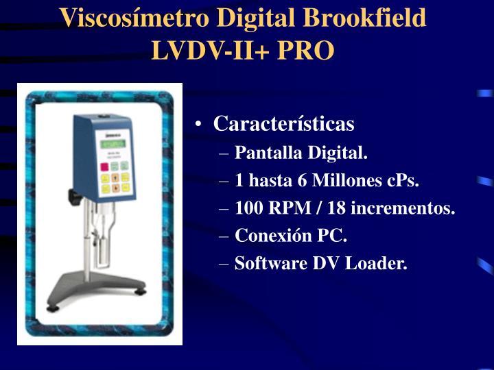 Viscosímetro Digital Brookfield LV