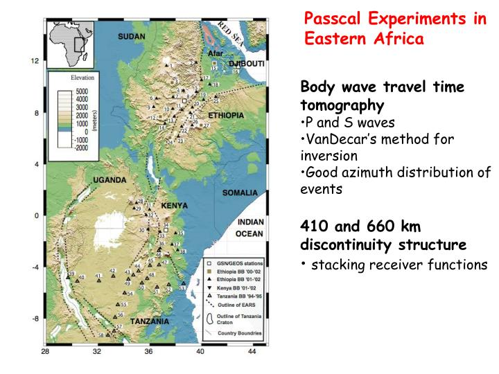 Passcal Experiments in