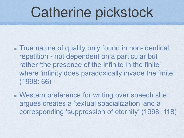 Catherine pickstock