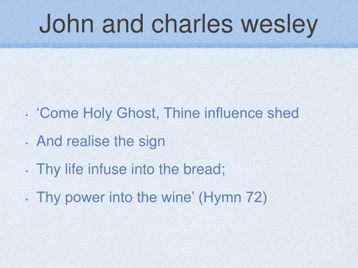 John and charles wesley