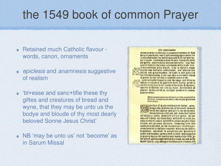 the 1549 book of common Prayer