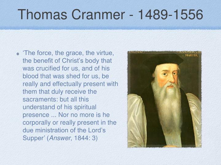 Thomas Cranmer - 1489-1556