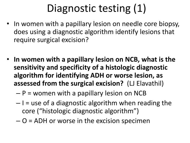 Diagnostic testing (1)
