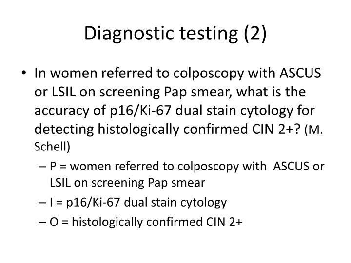 Diagnostic testing (2)