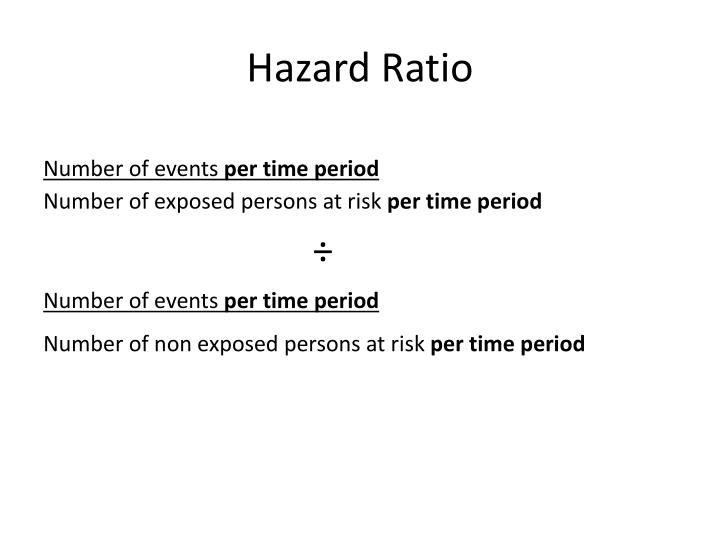 Hazard Ratio