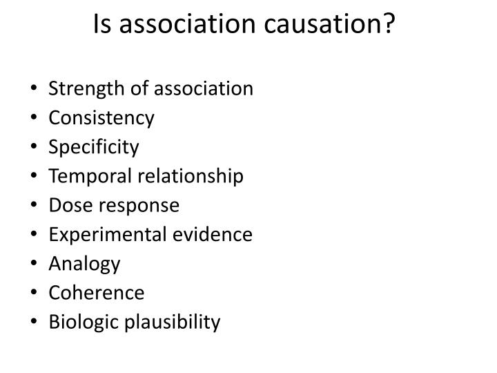 Is association causation?