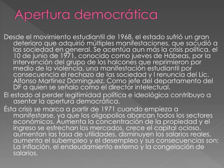 Apertura democrática