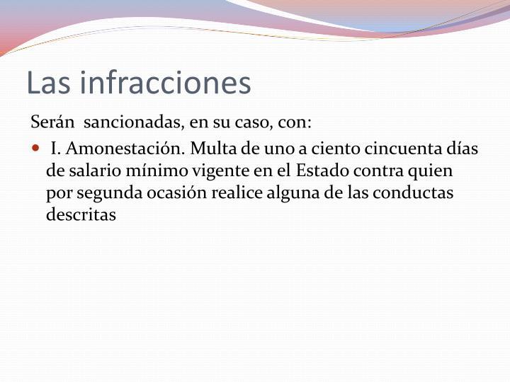 Las infracciones
